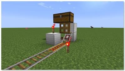 Minecraft 高速トロッコ輸送 アイテム積み込み駅