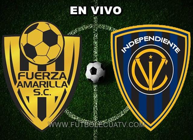 Fuerza Amarilla se enfrentan a Independiente del Valle en vivo desde las 14:00 horario local a efectuarse en el campo nueve de mayo por la fecha ocho del torneo ecuatoriano, siendo el árbitro principal Franklin Congo con transmisión del canal autorizado GolTV.