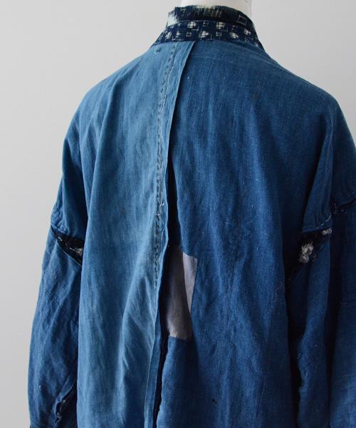 野良着 FUNS 藍染 襤褸 絣 ジャパンヴィンテージ 30~50年代 着物 Japanese Vintage 30~50s Noragi Jacket Indigo Dyed Boro Textile