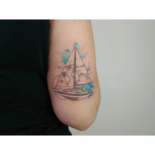 Lovely travel Tattoos Ideas