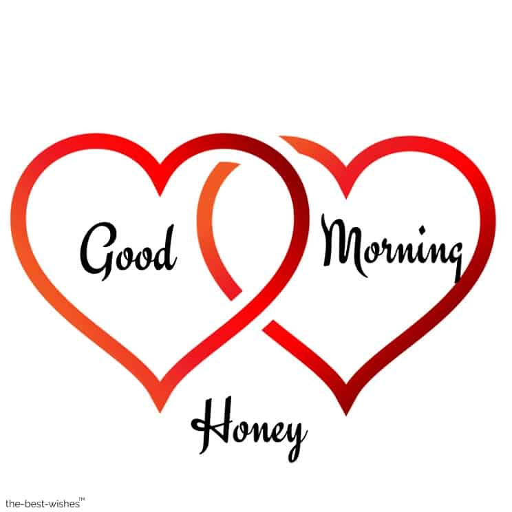 gud mrng honey with love hearts
