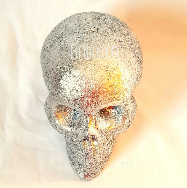 Calavera cubierta con glitter (no se sale). B1152
