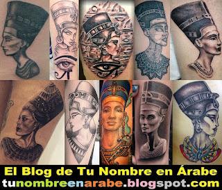 Tatuajes de Nefertiti