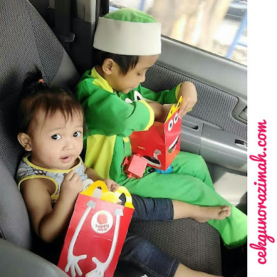 irfan, dhia zahra, happy meal, mcdonald happy meal, mc donald