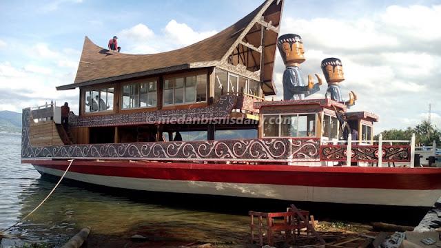 Kapal Wisata Rumah Batak Sudah Diuji Coba, Siap Kelilingi Danau Toba