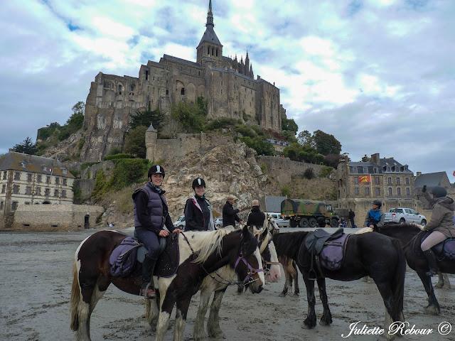 Randonnée à cheval au Mont-Saint-Michel