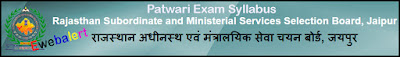 RSMSSB Patwari Exam Syllabus