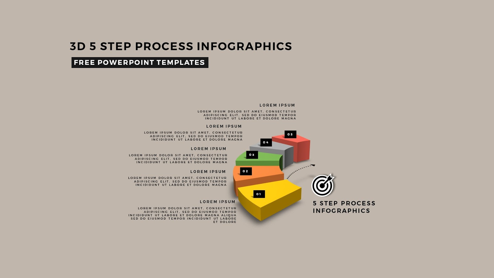 process diagram template powerpoint 6 way extension lead 3m multi step 3d circular infographics