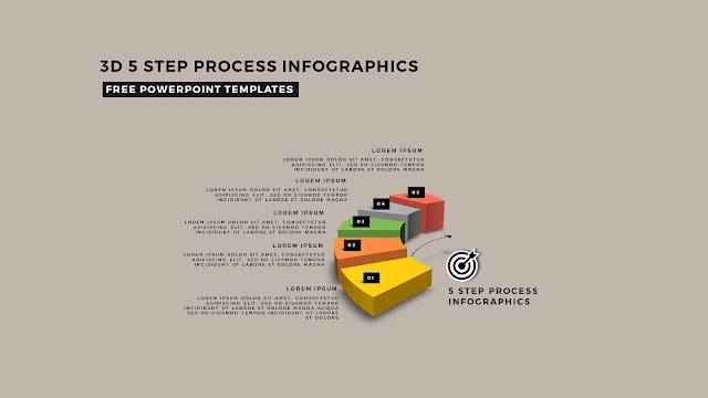 Multi Step 3D Circular Process Diagram Infographic Free PowerPoint Template Slide 7