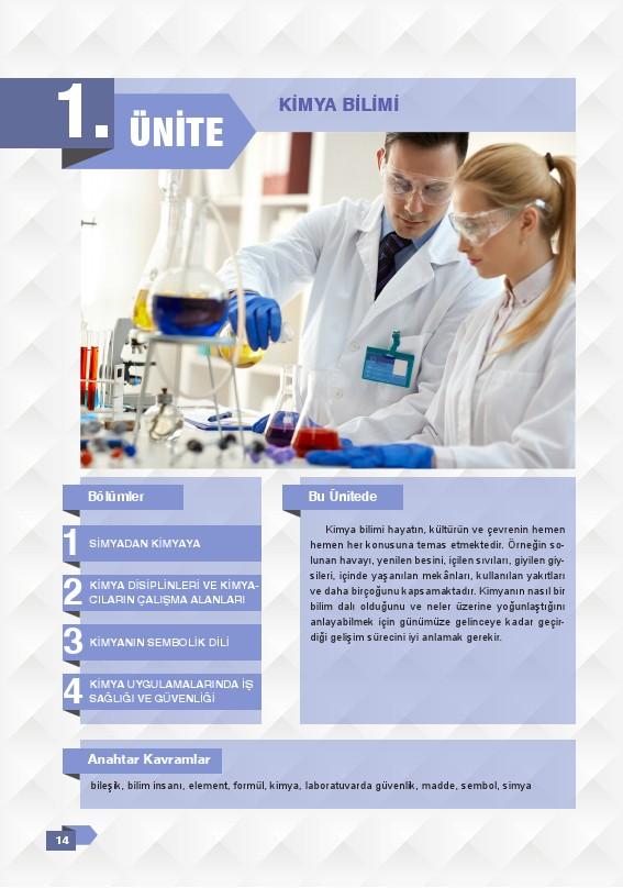 9. Sınıf Kimya Ders Kitabı Cevapları Sonuç Yayınları Sayfa 14