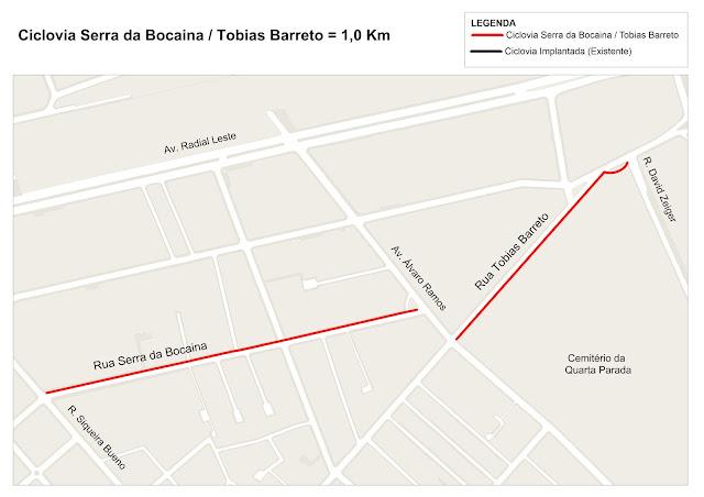 Ciclovia das Ruas Serra da Bocaina e Tobias Barreto