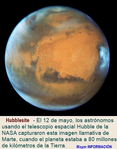 Hubble enfoca primer plano de Marte