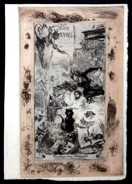 http://www.ebay.fr/itm/1890-1894-Estampe-originale-Cauchemar-dun-Bibliophile-Albert-Robida-Uzanne-Rare-/231969778140