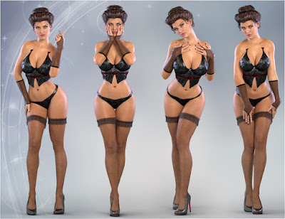 Z La Femme Fatale - Poses for Genesis 3 Female