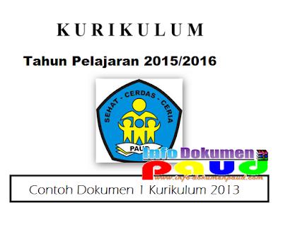 Contoh Dokumen 1 Kurikulum 2013
