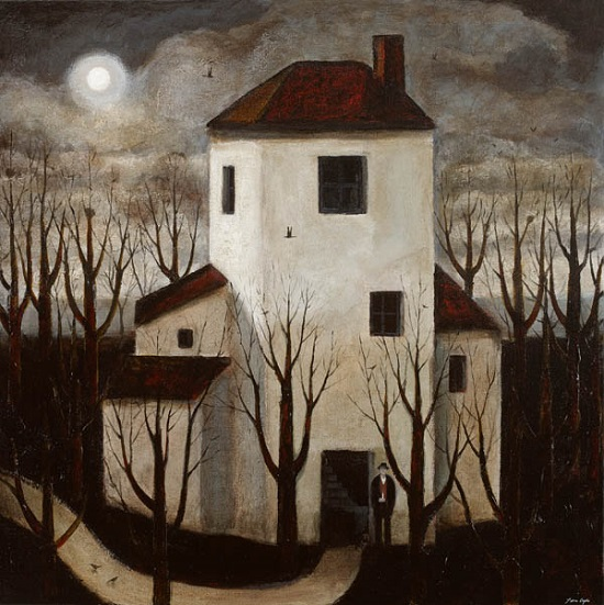 "Arte, pinturas: ""The Poets House"" by John Caple, 2017"