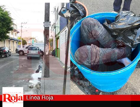 Encuentran cadáveres humanos en tambos para basura