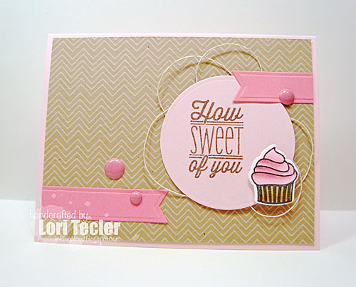 How Sweet of You card-designed by Lori Tecler/Inking Aloud-stamps from Verve Stamps