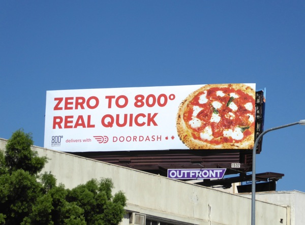 Zero to 800 real quick DoorDash billboard