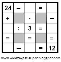 proste krzyżówki matematyczne