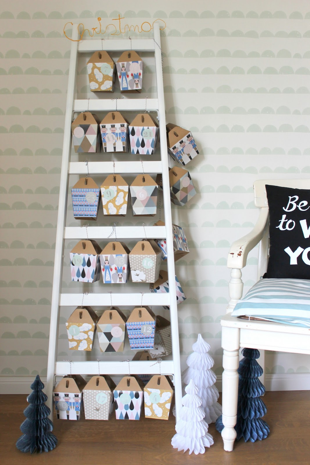 pfefferminzgruen diy adventskalender. Black Bedroom Furniture Sets. Home Design Ideas