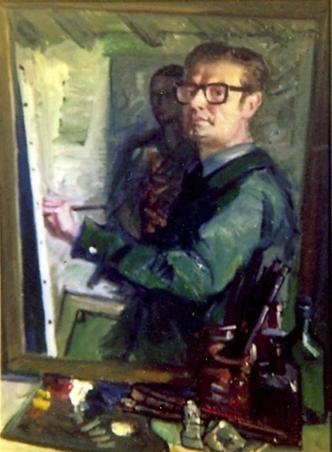 Jaume Planas Galles, Self Portrait, Portraits of Painters, Jaume Planas, Fine arts, Portraits of painters blog, Paintings of Jaume Planas, Painter Jaume Planas