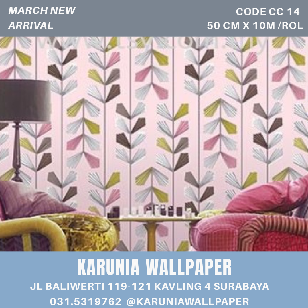 jual dinding wallpaper girly pink surabaya