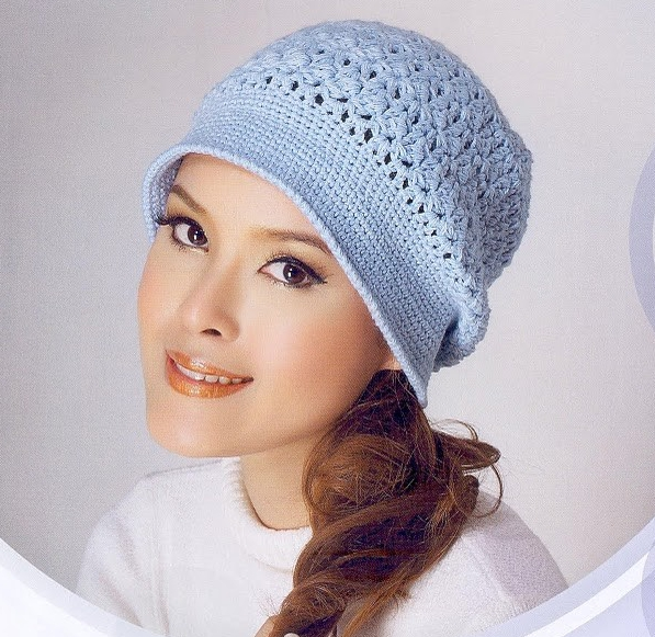 Patrón #1163: Gorro a Crochet