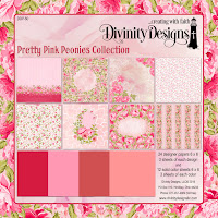 Divinity Designs Pretty Pink Peonies Paper Collection