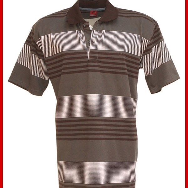 ADR046 Kaos Block Brown Polo Pria Import BMGShop