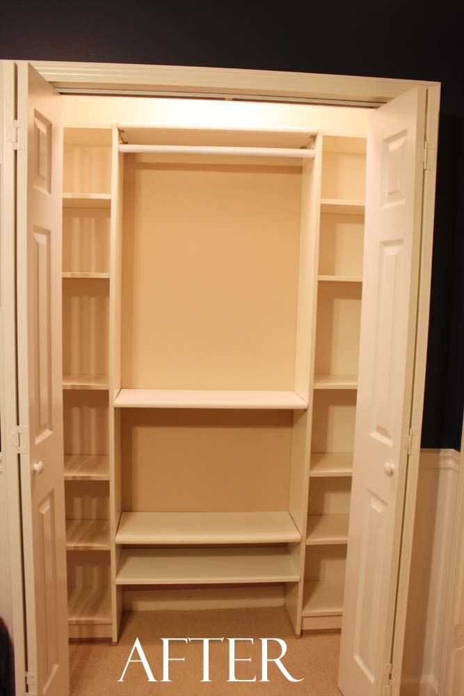 Do It Yourself Home Design: Peach Street's Blog: Our Under $100 Closet System