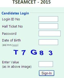 TSEAMCET 2015 Seat Allotment Order