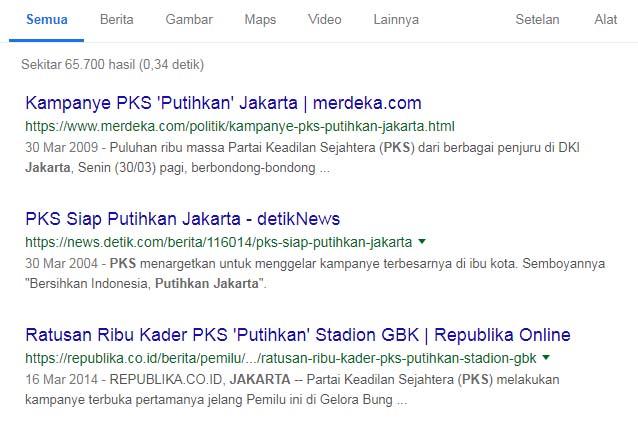 Jejak digital PKS putihkan Jakarta