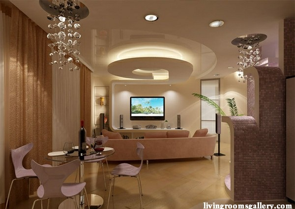 25 pop false ceiling designs with led ceiling lighting ideas living rooms gallery - False ceiling living room ...