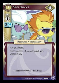 My Little Pony Slick Shades The Crystal Games CCG Card