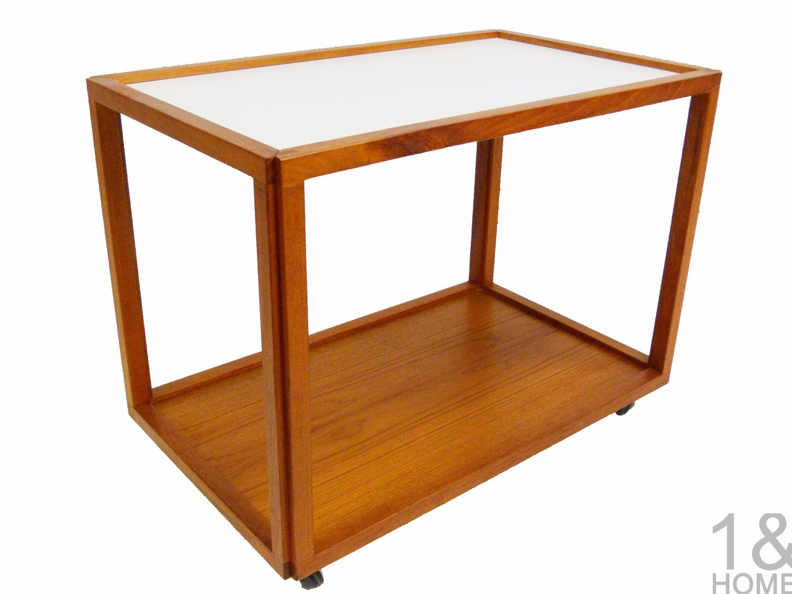 Teak Serving Tea Cart 70's Danish Modern