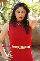 Telugu Actress Zahida Sam Latest Pos in Red Gown at RF Films New Movie Opening  0088.JPG