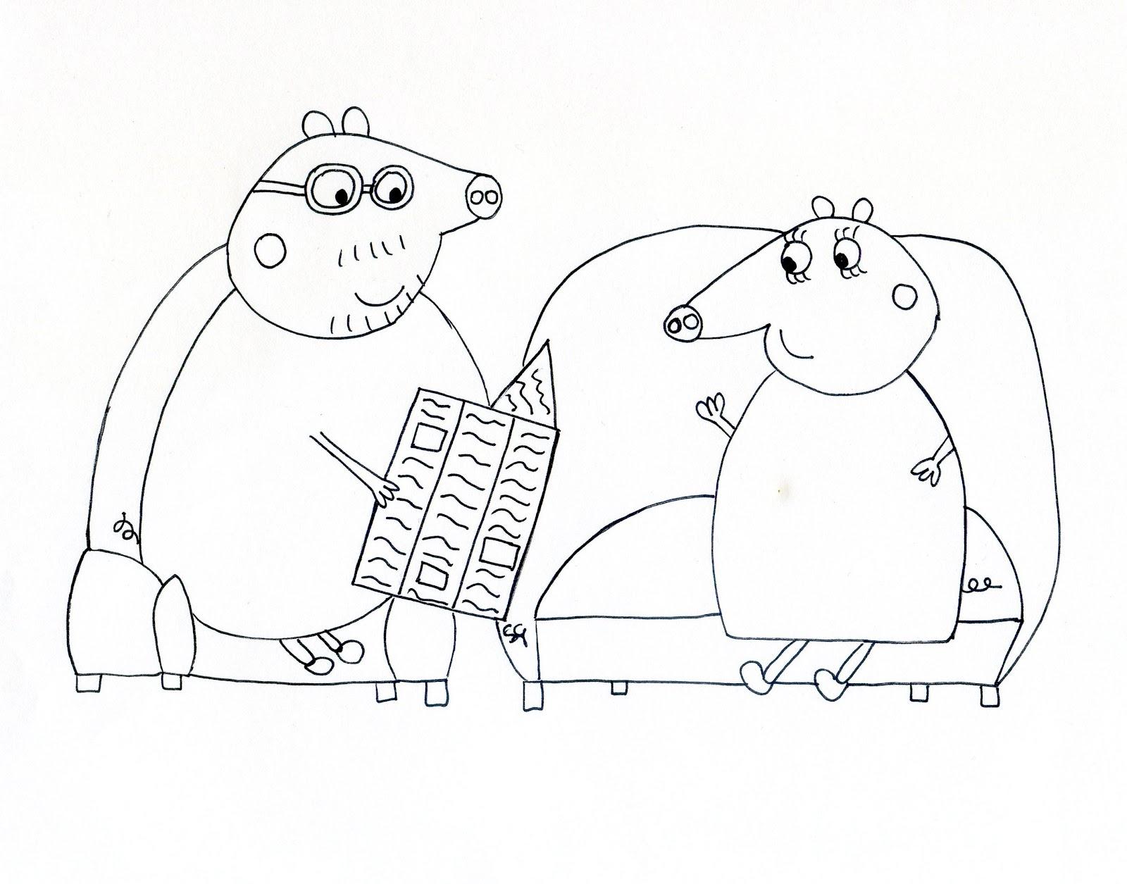 Dibujos De Peppa Para Colorear E Imprimir: Blog MegaDiverso: Peppa Pig Para Colorear E Imprimir
