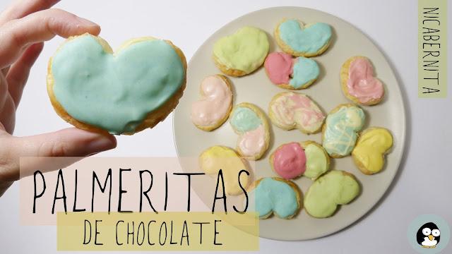 PALMERITAS de hojaldre Palmeras de chocolate Palmeritas de colores Nica Bernita