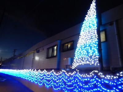 江ノ電駅イルミネーション:七里ヶ浜駅