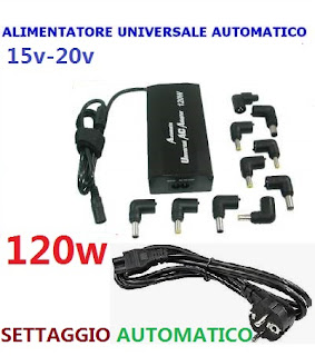 alimentatore 120w notebook on tenck automatico