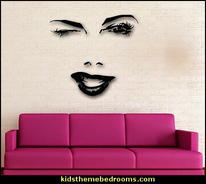 Fashionista - Diva Style bedroom decorating - runway theme bedroom ideas - shoe decor - Fashion Diva bedroom ideas - Fashionista Runway bedroom decorating - Boutique Decor - girls boutique theme bedroom ideas - Paris fashionista bathroom decor - shopping boutique style playroom - chanel wall decal stickers