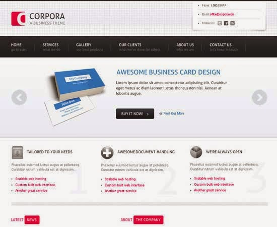 Slicing and Coding a Sleek, Corporate PSD to HTML and CSS