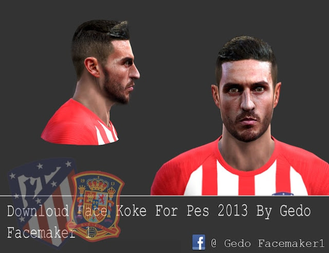 PES 2013 Koke Face by Gedo 22 Facemaker