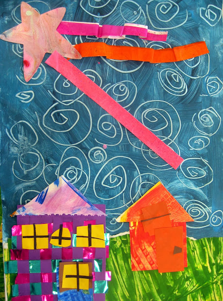 Cassie Stephens In Artroom Starry Night Collage