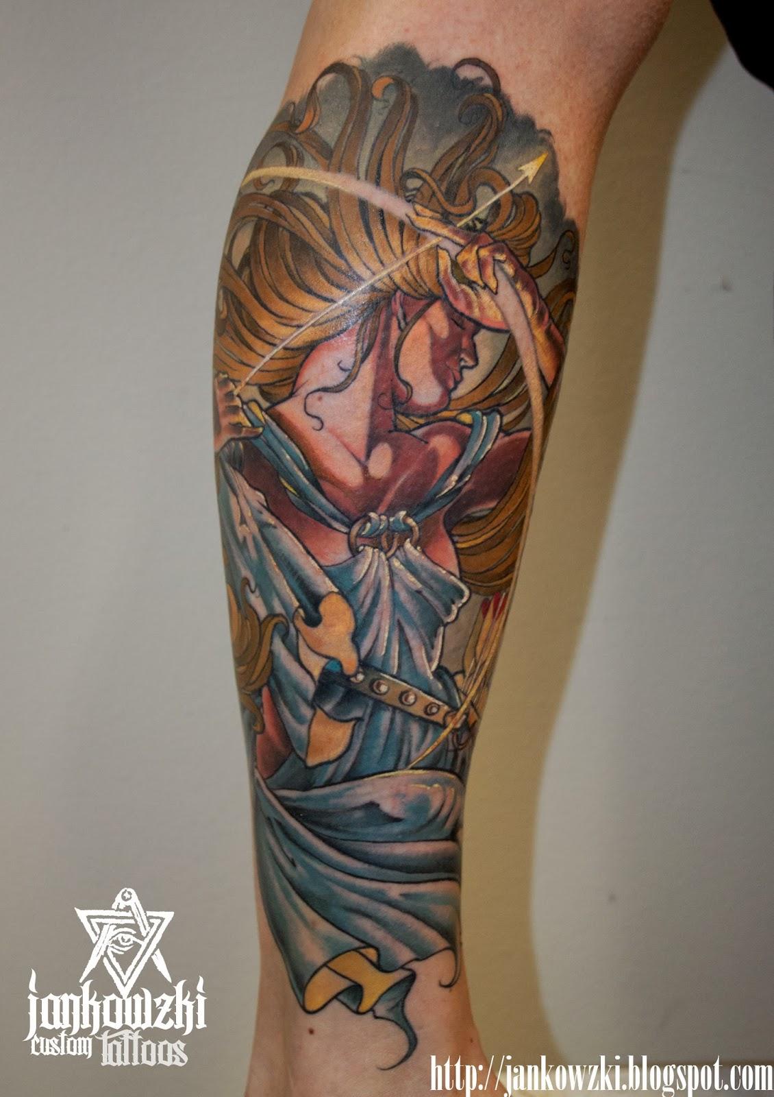 Tattoo Of Tattoo: Jankowzki Custom Tattoos: Goddess Diana