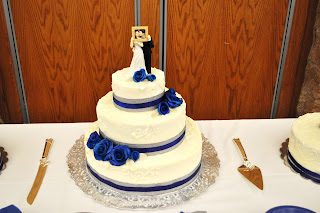 blue and silver wedding cakes cakejoy royal blue and silver wedding 11961