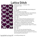 Lattice Knitting Stitch