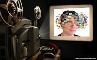 Kuvassa videoprojektori näyttää henkilön ajatuskuvia.
