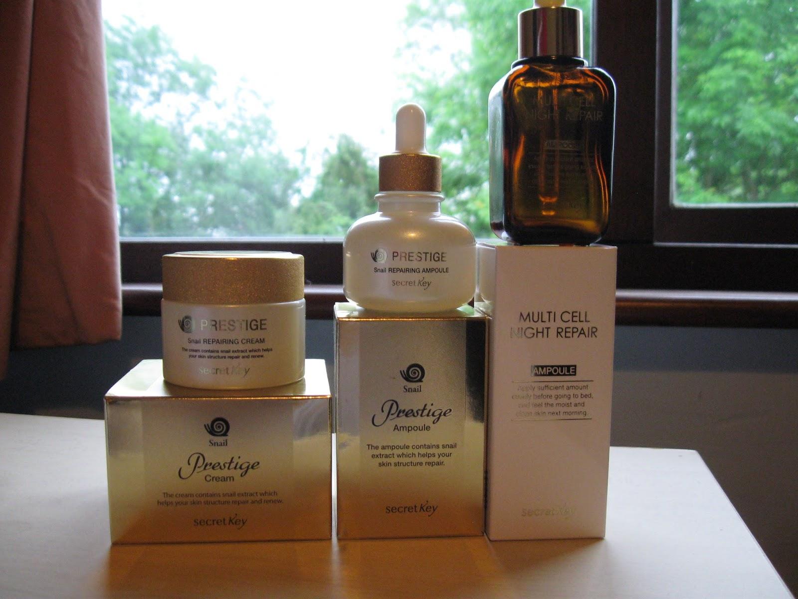 Review Secret Key Snail Prestige Wonderful Range For Skin Treatment Cream 50gr Care On A Budget